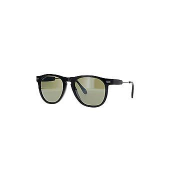Serengeti Amboy SS530001 Shiny Black with Shiny Dark Gunmetal/Mineral Polarized 555nm Sunglasses