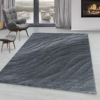 Sala de estar Alfombra ONTARIO Pila corta patrón suave diseño moderno ejes líneas