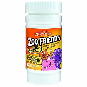 21 ° secolo Zoo Amici Multivitamin con Xtra C, 60 schede masticabili