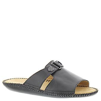 Auditions Womens Sparkle Leather Open Toe Casual Slide Sandals