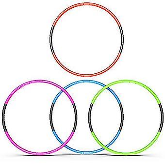 8 noduri pliabile Hula Hoop 70cm Fitness Exercitarea Gym Antrenament Hoola pentru copii (galben)