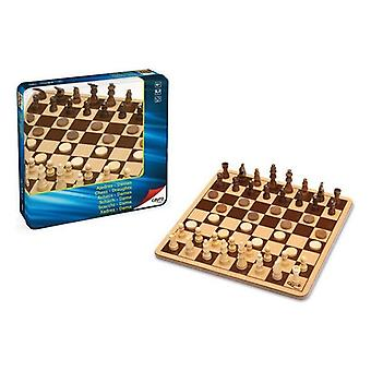 Chess and Checkers Board Cayro Wood