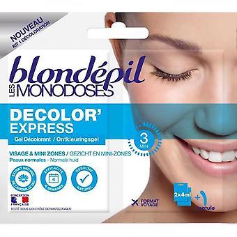 Blondepil Decolorexpress Monodose Bleaching Gel - For Face - 2 X 4 Ml