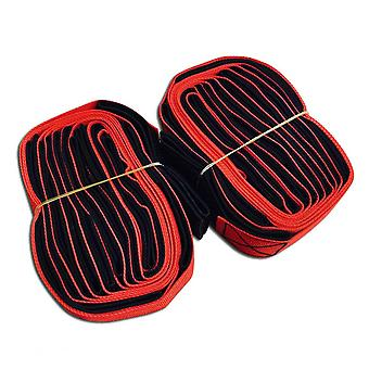 2 Pcs Bigfoot Straps Fun Games Outdoor Limbs Training Game Props-suit For 4 People(red)