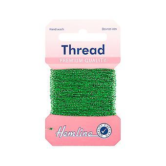 SISTA NÅGRA - 10m Emerald Green Glitter Thread för hantverk   Garnkabel & elastisk för hantverk