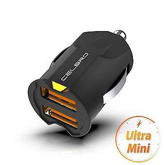 Voedingsadapters laders dubbele usb mini autolader adapter (alleen autolader zwarte lader alleen)