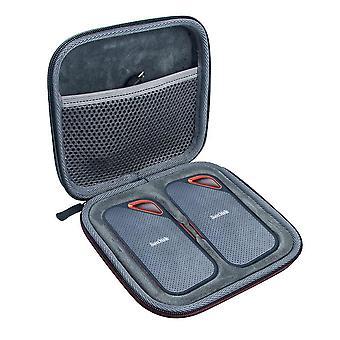 Carry storage case bag for 2pcs  SanDisk 1TB 2TB Extreme PRO Portable External SSD