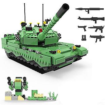 Militær serie Verdenskrig kinesiske hær 99a vigtigste kamp tank diy model byggesten legetøj gaver