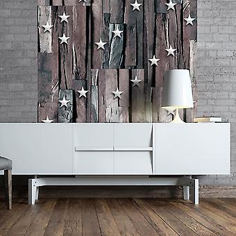 Papier peint - Stars on Wood