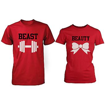 RED kauneus & peto pari t-paita (kaksi paidat) vastaavat pari t-paidat