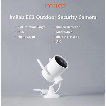 Security Camera Outdoor, Imilab Surveillance Camera, 3mp Ip Camera With Motion/human Detection, Two-way Audio, Night Vision, Activity Alert, Dual Ante