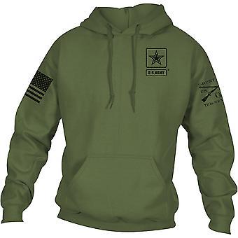 Grunt نمط الجيش -- الأساسية الكامل شعار Pullover هودي -- الأخضر العسكري
