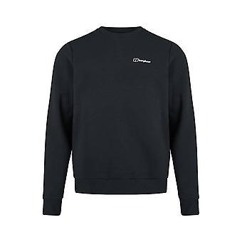 Berghaus logo fleece crew sweat - black