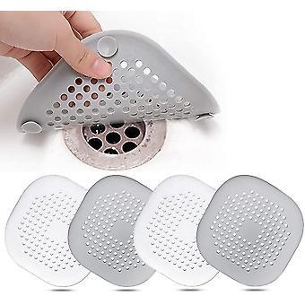 4 Stück Silikon Abflussschutz, Küchenspüle Filter