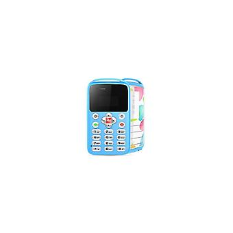 Aeku M9 0.96 Inch 360mah Vibration Bluetooth One Key Sos Low Radiation Ultra Thin Mini Card Phone -- Black / White / Pink / Blue - Blue