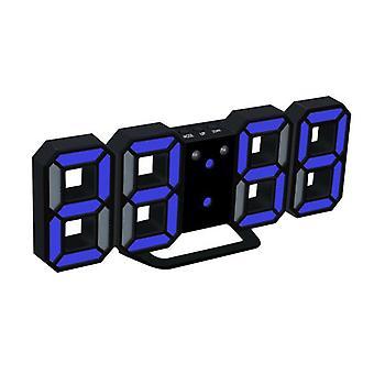 3d Led Digital Clock Glödande Nattläge Ljusstyrka Justerbar Elektronisk Bordsklocka 24/12 Timmars Display Väckarklocka Vägghängning