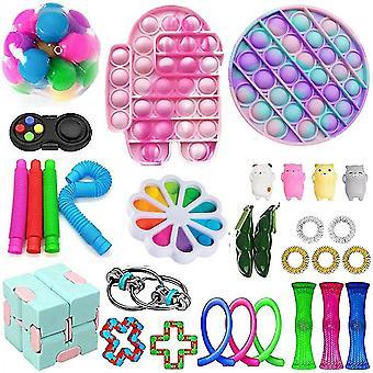 30 pakke fidget leker sett sensoriske verktøy pakke stressavlastning håndleketøy