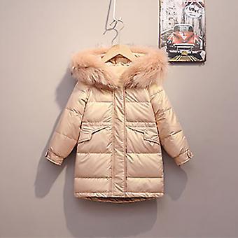 Rózsaszín gyermek hosszú kabát őszi / téli szezon meleg kabát