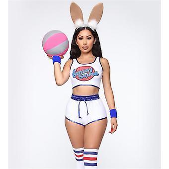 Space Lola Bunny Rabbit Cosplay Kostym Kanin Kanin Sylt Kostymer Kvinnor Flickor Halloween Party Kläder