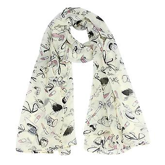 Boolavard® TM Autumn new fashion women shawl scarf lipstick high-heeled shoes design long ladies scarves