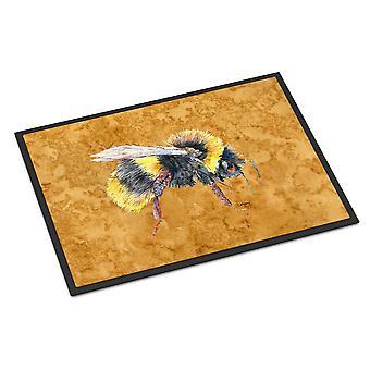 كارولين الكنوز 8850JMAT النحل على ممسحة الذهب داخلي أو في الهواء الطلق حصيرة 24 × 36