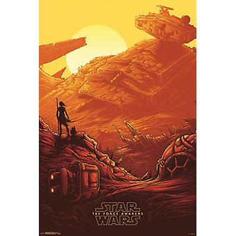 Star Wars The Force Awakens - Graveyard Poster Poster Print