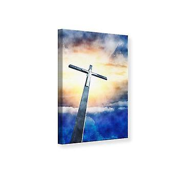Impresión de lona de Jesús en la Cruz