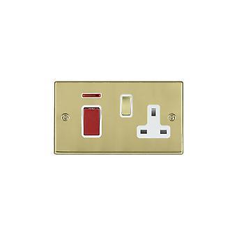 Hamilton Litestat Hartland polerowanego mosiądzu 45DP + Neon + SS1 PB/Red/WH