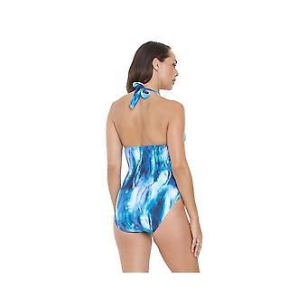 Seaspray SY007033 Women's Blue Tie-Dye Costume One Piece Swimsuit