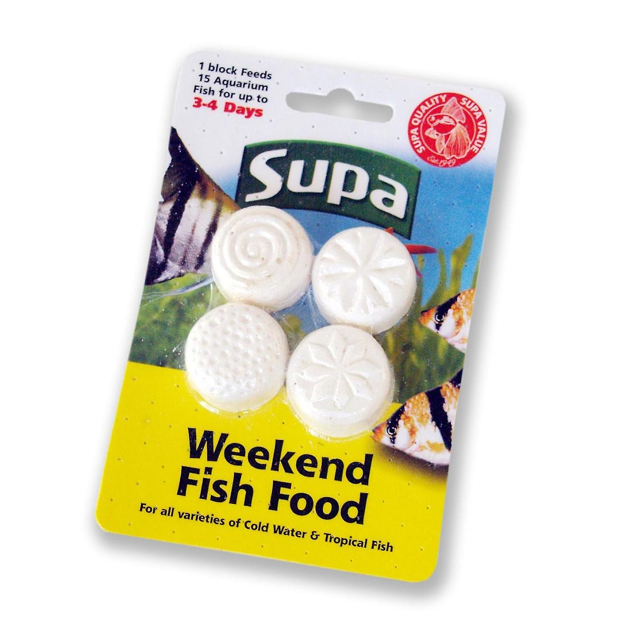 Supa Fish Food Weekend Blocks (4 Pack)