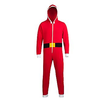 Comfy Co Unisex Christmas Santa Hooded All In One Onesie (280 GSM)