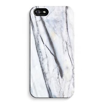 iPhone 5C koko Tulosta tapauksessa (kiiltävä) - raidallinen marmori