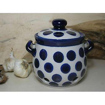 Garlic pot 900 ml, height 15 cm, tradition 28 - polska pottery - BSN 7768