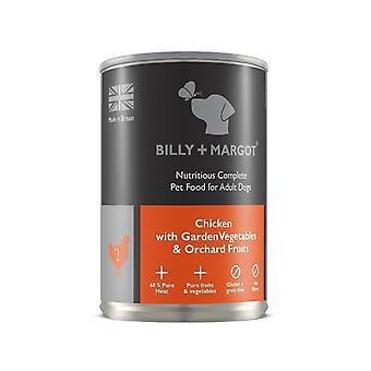 Billy + Margot kompletny mokry pies żywność kurczaka 395 g x 12 Pack