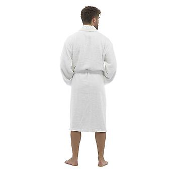 Tom Franks Mens Cotton Toweling Bathrobe Dressing Gown