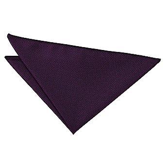 Cadbury Purple Greek Key Pocket Square