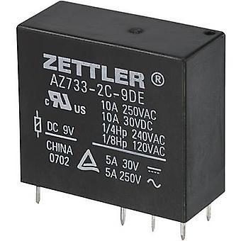 Zettler Electronics AZ733-2C-24DE PCB relay 24 V DC 10 A 2 change-overs 1 pc(s)