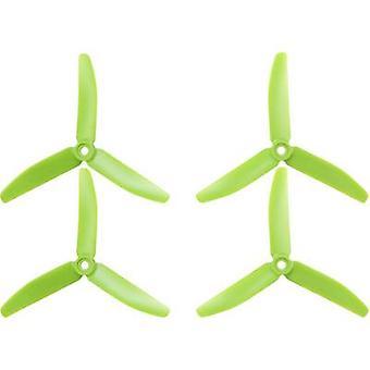 HQ Prop 3-blade Race copter propeller set Standard 5 x 4 inch (12.7 x 10.2 cm) TP5X4X3G&TP5X4X3RG