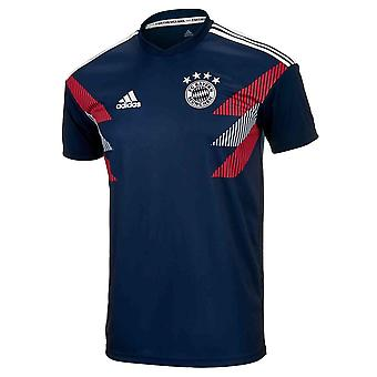 2018-2019 Bayern Münih Adidas Maç Öncesi Eğitim Forması (Lacivert) - Çocuklar