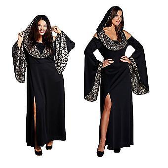 Skallen kappe Halloween Gothickleid skallen drakt drakt for kvinner