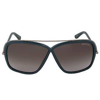Tom Ford Brenda Sunglasses FT0455 96P   Dark Green/Gunmetal Frame   Grey Lens