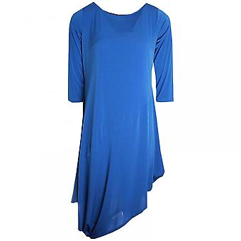 Latte Three Quarter Sleeve Asymmetric Dress