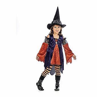 Filles de sorcière citrouille costume sorcière costume enfant Halloween