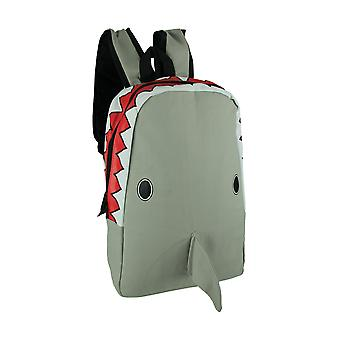 Sleepyville Critters Grey Scary Shark Head Backpack