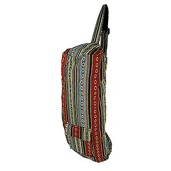 Boho Festival Tribal Stripe bomull Yoga matte Bag