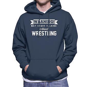 警告はレスリング男性のフード付きスウェットシャツについて話し始めるかもしれない