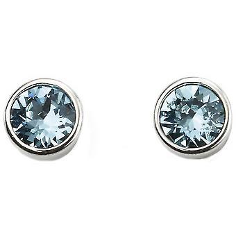 Anfang März Swarovski Geburtsstein Ohrringe - Silber/Blau