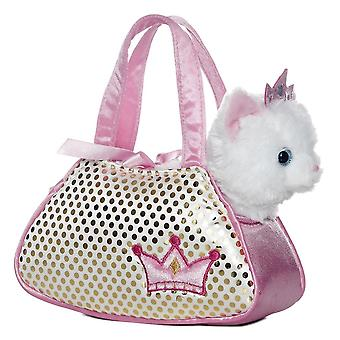 "Princesa branca Kitty Pal chique Pet transportadora 8"" Plush por Aurora - 32602"