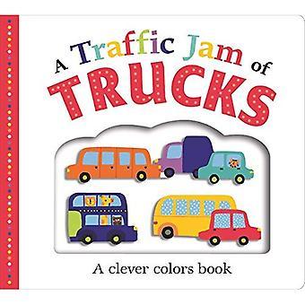 Fit Board prentenboeken: Een Traffic Jam of Trucks (Large): A kleuren boek (foto past) [Board boek]