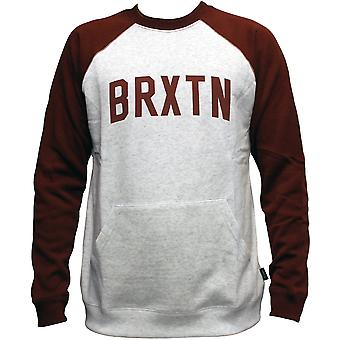 Brixton Hamilton Sweatshirt Ash Burgundy